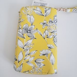 NEW Yellow Wristlet Wallet